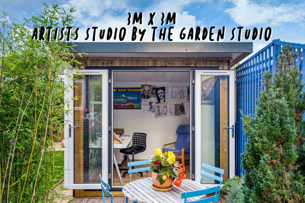 Exterior photo of 3m x 3m artist studio